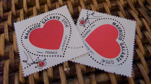 Maurizio Galante stamps from La Poste